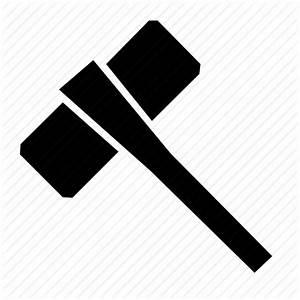 Battle hammer, hammer, knight, medieval, thor, viking icon
