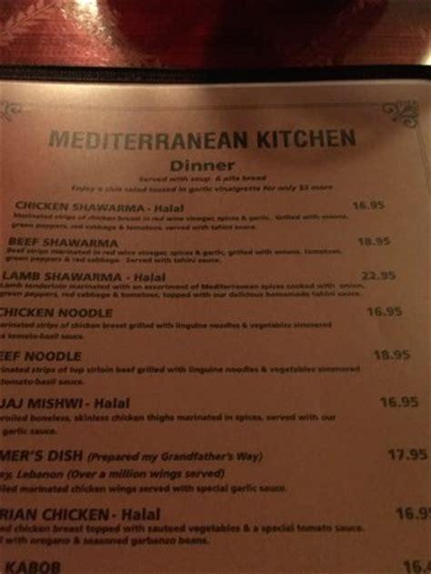 Mediterranean Kitchen, Bellevue  Menu, Prices
