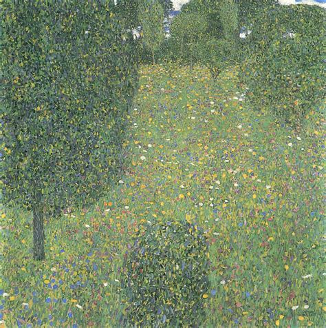 landscape garden meadow in flower 1906 gustav klimt