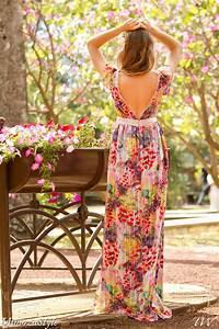 Robe longue elegante boheme de soiree en soie imprime for Robe longue fluide à fleurs