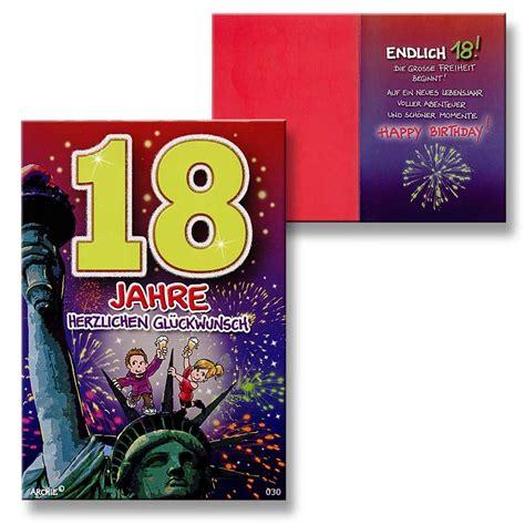 18 geburtstag mädchen archie geburtstagskarte zum 18 geburtstag junge m 228 dchen rot gl 252 ckwunschkarte ki ebay
