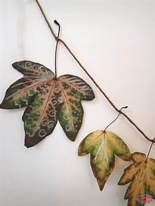 Guirlande Accroche Photo : diy une guirlande de feuilles d 39 automne cabane id es ~ Teatrodelosmanantiales.com Idées de Décoration