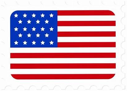 Stamp Flag Postage Clip Usa Clipart Passport