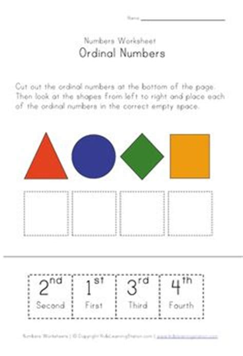 ordinal numbers ordinal numbers number worksheets and