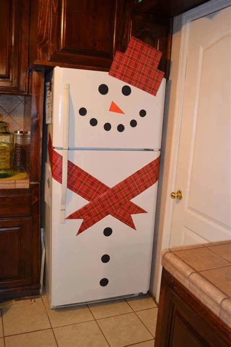 decorate refrigerators  cute snowman stick sets