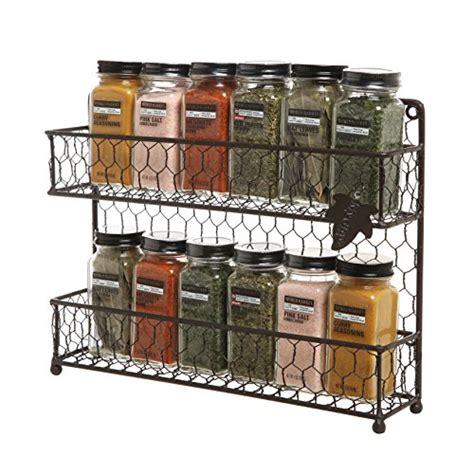 Wire Spice Rack Organizer by Mygift Rustic Brown Dual Tier Wire Spice Rack Jars Storage