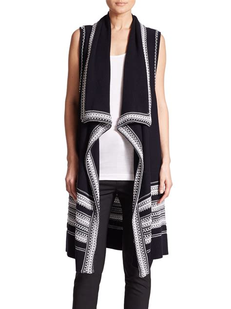 Drape Vest - vince textured drape front sweater vest in gray lyst