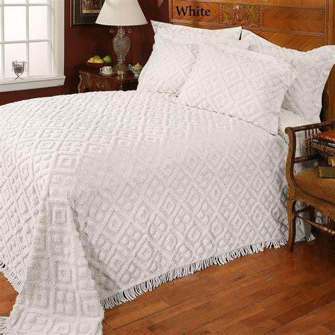 chenille bedspreads diamond cotton chenille bedspread bedding