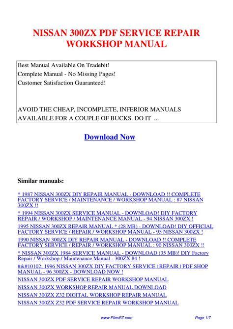 online car repair manuals free 1995 nissan 300zx user handbook nissan 300zx service repair workshop manual by yang rong issuu