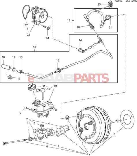 Saab Gasket Brake Vacuum Pump Parts