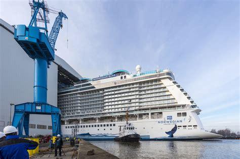 bliss norwegian cruise ship dry dock float lines alaskan bound latest line step werft meyer closer sailing announces passenger