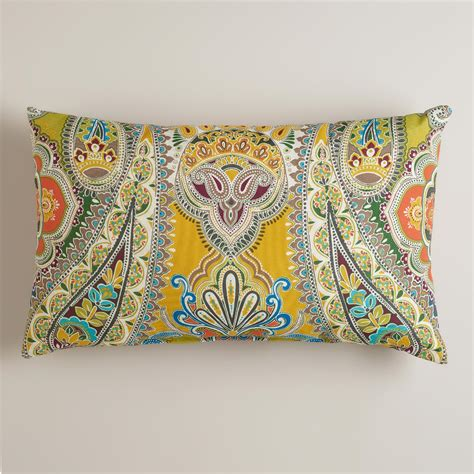 world market pillows venice paisley outdoor lumbar pillow world market
