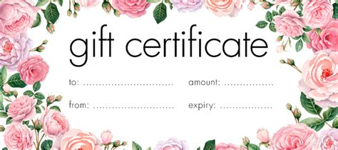 Make Your Own Gift Certificate Template Free by Free Gift Certificates Templates Design Your Gift