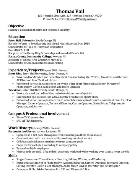 Tv Director Resume by Television Resume