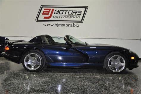 purchase   dodge viper sapphire blue rt