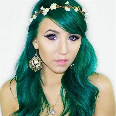 Green Teal Turquoise Hair Cute Girls And Colored Hair