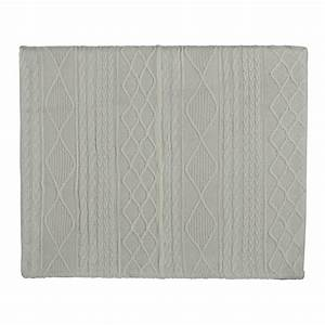 Tete De Lit Tissu : t te de lit 140 en tissu tricot blanche tricot maisons du monde ~ Teatrodelosmanantiales.com Idées de Décoration