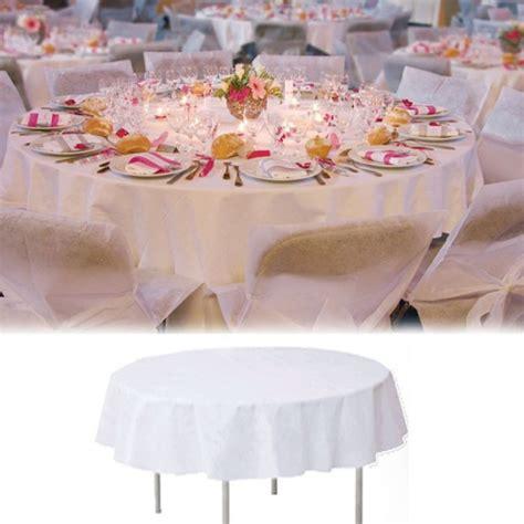 housse de chaise ronde mariage nappe de table ronde blanche 240cm