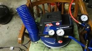 Campbell Hausfeld 1-gallon Pancake Air Compressor W   25 Ft  Hose  U0026 Tire Guage