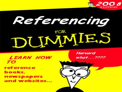 For Dummies by Referencing For Dummies