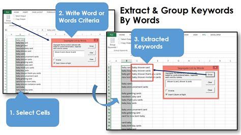 keywords excel grouping speed macro