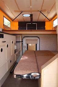 Vehicle Bug Out Truck Camper Interior