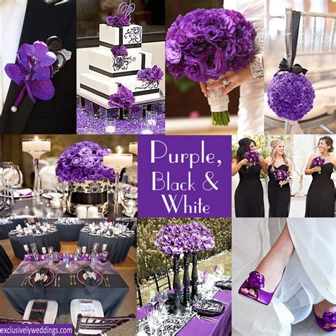 purple wedding color combination options  style
