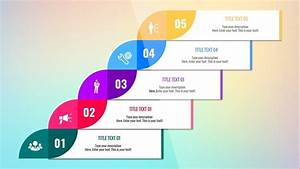 5 Step Colorful Diagram For Powerpoint  Free Slide