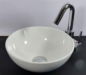 Waschbecken Glas Rund : nero badshop keramik aufsatz waschbecken rund 28cm online kaufen ~ Markanthonyermac.com Haus und Dekorationen