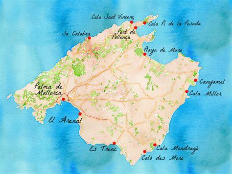 Carte Des Plages De by Nos 11 Plus Belles Plages De Majorque Carigami