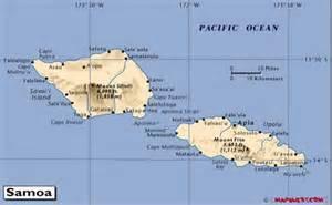 Pacific Islands Samoa Map