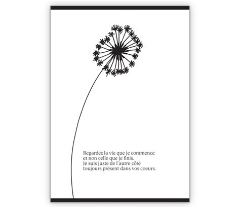 elegante trauerkarte mit schoener blume regardez la vie