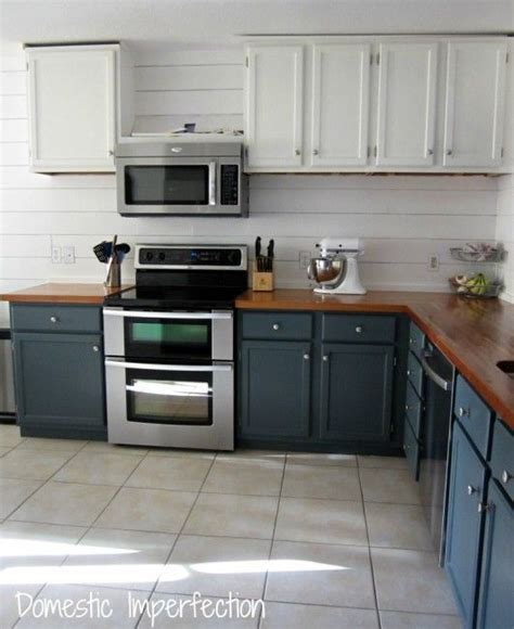 remodel kitchen cabinets painted plank walls finally butcher blocks counter top 1829