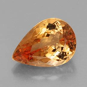 Imperial Topaz 12 23ct 5 1 carat pear 12 6x9 mm imperial topaz gemstone