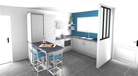 dessin cuisine 3d espace petit dejeuner cuisines inovconception