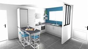 Table Cuisine Petit Espace : dessin cuisine 3d espace petit dejeuner cuisines inovconception ~ Teatrodelosmanantiales.com Idées de Décoration