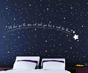 Shooting star wall art star wall stickers star wall art for Star wall decals