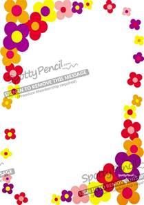 Flower Border Paper Printable