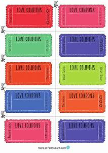 Letter Of Resignation Template Free Blank Multicolor Love Coupon Template Printable Pdf Download