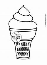 Ice Cream Coloring Pages Printable Icecream Drawing Cone Truck Melting Printables Getdrawings Coloing Getcolorings 4kids sketch template