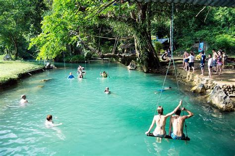 Blue Lagoon In Vang Vieng A Wonderful Relaxing Paradise