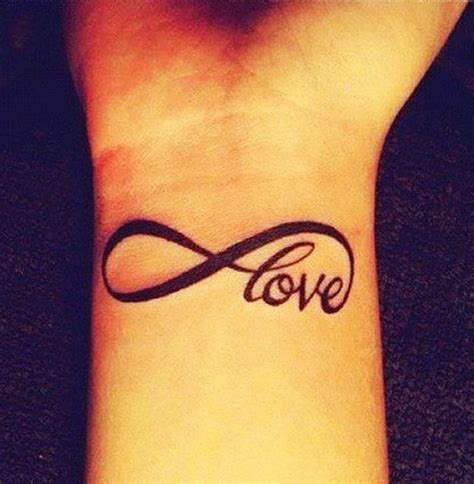 beautiful love infinity tattoo   wrist