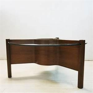 Table Ronde Verre Et Bois : table basse anglaise ronde nathan en verre et bois 1960 design market ~ Teatrodelosmanantiales.com Idées de Décoration
