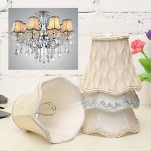 Chandelier Light Covers by Vintage Small Lace L Shades Textured Fabric Ceiling