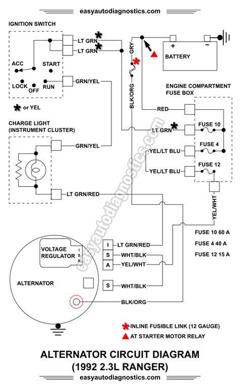Part Ford Ranger Alternator Wiring Diagram