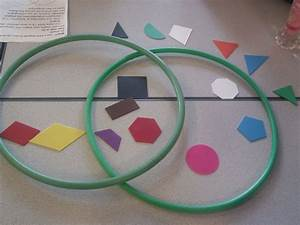2d Or 3d Shape Sorting With Venn Diagrams According To 2 Different Properties Which Can Be