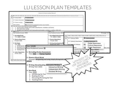 Lesson Plan Template For Reading Intervention Costumepartyrun