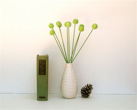 lime green home decor craspedia flowers wool billy button