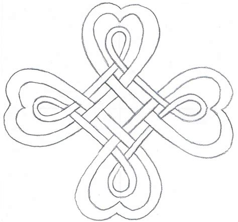 Simple Celtic Knot Border Sketch Coloring Page