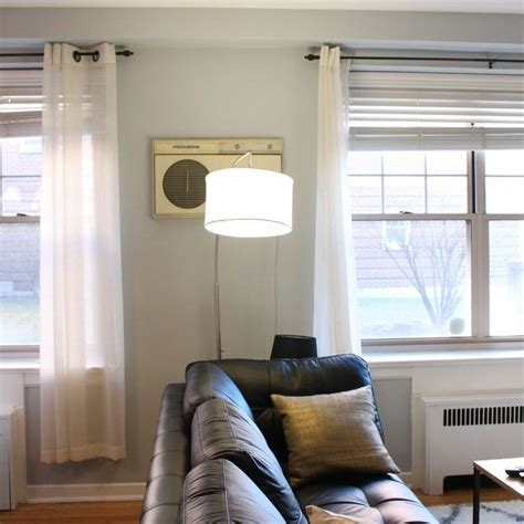 hiding  ugly wall unit air conditioner ikea billy hack